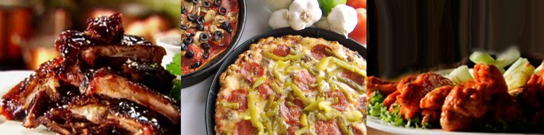 Regular Pizza & Rib Deal